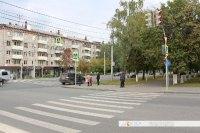 Пешеходный переход на перекрестке Гагарина-Энгельса