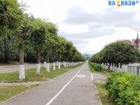 Велодорожка вдоль улицы Гагарина