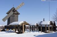 Ветряная мельница, колесный колодец и кузница