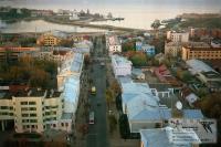 ул. К.Маркса и залив с высоты птичьего полета