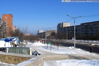 улица Гузовского зимой