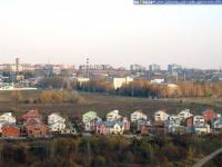Вид на коттеджный поселок