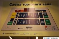 """Схема торгового зала  """"Лента """" ."""