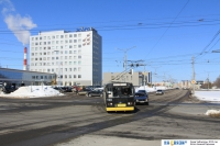 Троллейбус на улице 500-летия Чебоксар