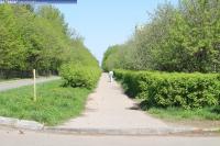 Пешеходная дорожка на улице Парковой