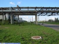 Трубопровод над проспектом Тракторостроителей