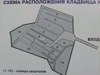Схема расположения кладбища №2