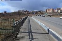 Пешеходный мост через реку Чебоксарка