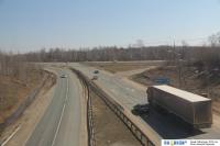 Вид на трассу М7 из поезда