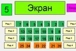 "План 5-го зала VIP кинотеатра ""Волжский"""