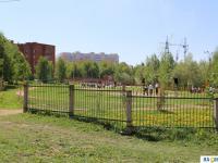 Вид на школьный стадион