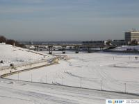 Зимний залив, Московский мост, Театральная набережная