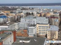 Вид сверху на центр города