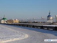 Историческая набережная зимой