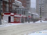 """Остановка """"Акатуй"""" во время снегопада"""