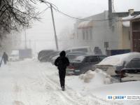 Дорога во время снегопада