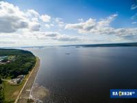 Река Волга с высоты