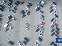 Вид на парковку Мегастрой