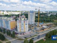 Вид на микрорайон Солнечный, 2015 год