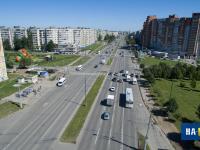 Вид с высоты на проспект Тракторостроителей