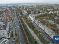 Вид на улицу Гагарина с высоты, 2015 год