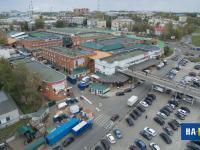 Вид на Центральный колхозный рынок