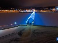 Вечерний залив перед Новым годом