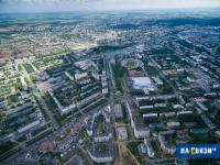 Вид на улицы Цивильская и Ярмарочная с высоты, 2015 год