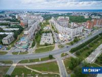 Вид на улицу Ярмарочная с высоты, 2015 год