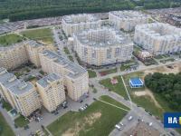 Вид сверху на микрорайон Университет-2