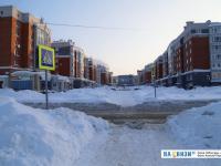 Пешеходный переход зимой
