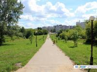 Пешеходная дорожка через Ельниковский овраг от улицы Солнечной к улице Винокурова