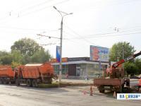 Ремонт дороги на улице Винокурова