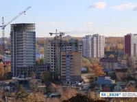 Вид на стройки по улице Гражданская