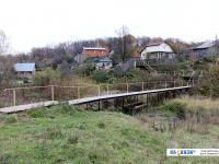 Пешеходный мостик через речку Кукшумку