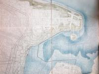 Схема улиц и домов на дне залива
