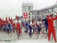 Велосипедисты Чувашии на празднике 1 мая 1974 года