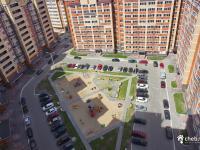 Двор детская площадка гостевая парковка