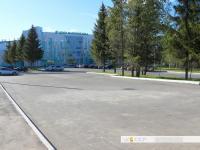 Автомобильная парковка перед Центром маунтинбайка