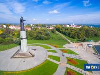 Монумент на чебоксарском заливе