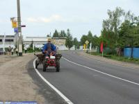 На деревенском транспорте