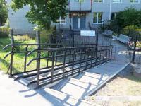 Лестница и пандус возле санэпидемстанции