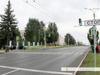 Регулируемый пешеходный переход возле Дома правительства