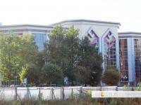 Вид на Национальную библиотеку со стороны улицы Энгельса