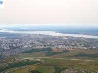 Вид на город со стороны аэропорта