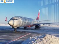 Самолет Нордвинд в аэропорту Чебоксары