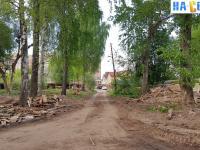 Улица Щорса после сноса бараков