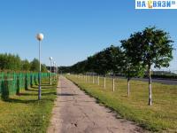 Пешеходная дорожка вдоль улицы Скворцова