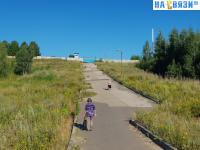 Дамба на пути в Заовражное