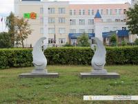 Лебеди возле Дворца пионеров